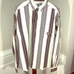 Vintage Mickey Mouse L/S Striped * Weighted B/D 👔
